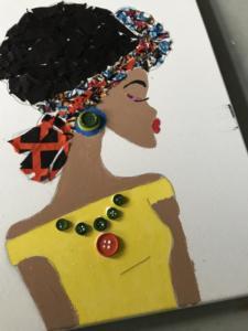 Afro girl Ankara Collage