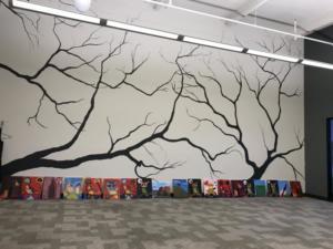 Staff retreat paintings