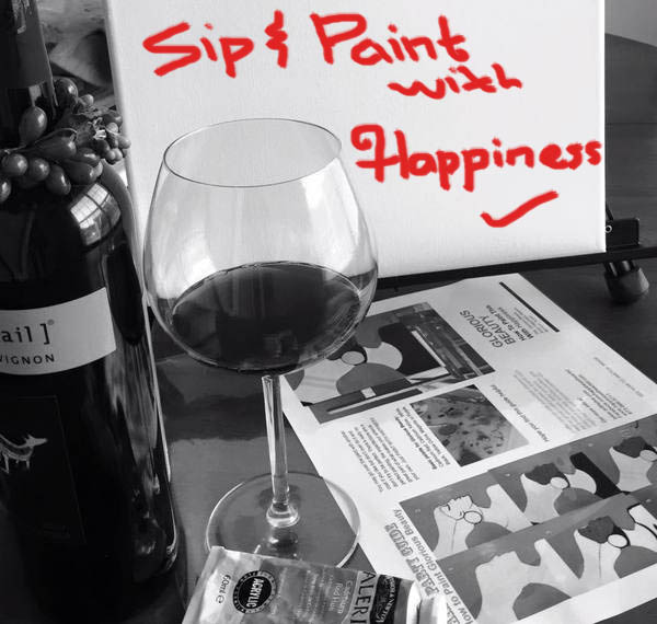 sip and paint with Happiness logo