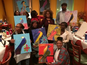 African sip and paint
