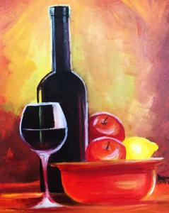 Paint and Sip Wine and Fruits by Happiness Akaniro