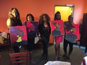 Sip and paint with happiness d