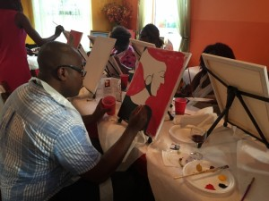 Sip and paint with happiness f