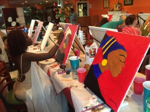 Sip and paint with happiness l