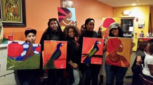 African inspired paint party